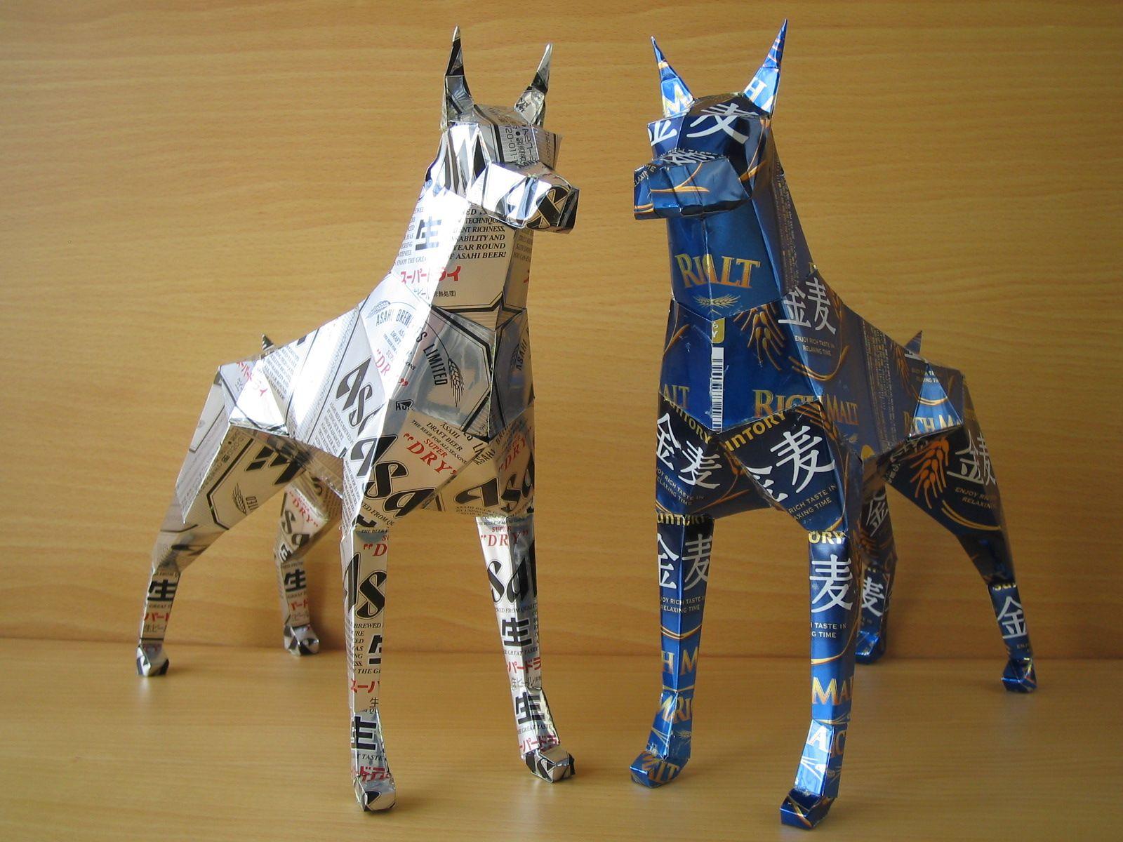 reciclado latas animales 17
