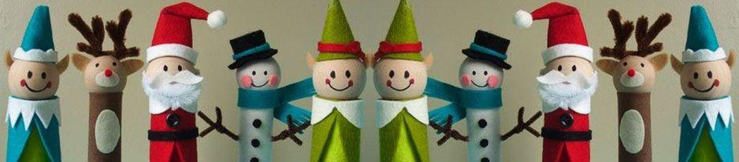 muñecos navideños reciclados