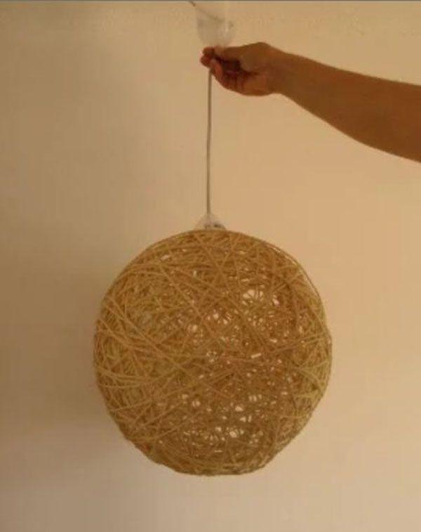 lampara de techo de cuerda 1