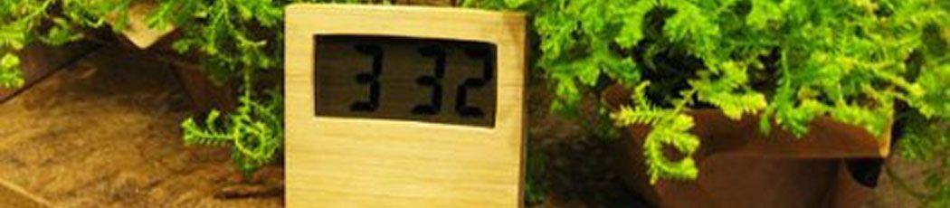 Reloj que funciona con energía limpia