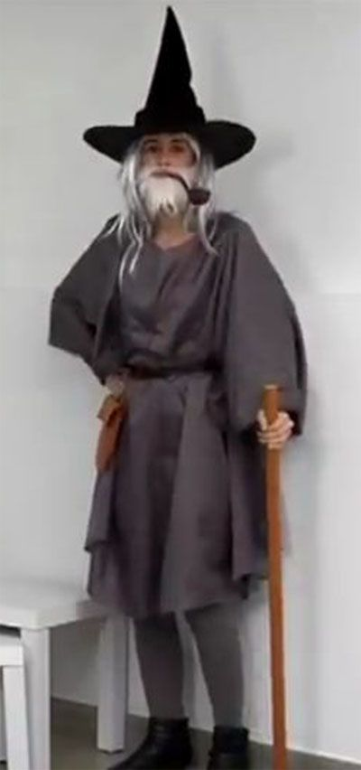 disfraz de Gandalf 1