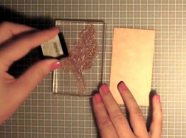 Tarjeta de felicitación para San Valentín con la tecnica del Scrap 1