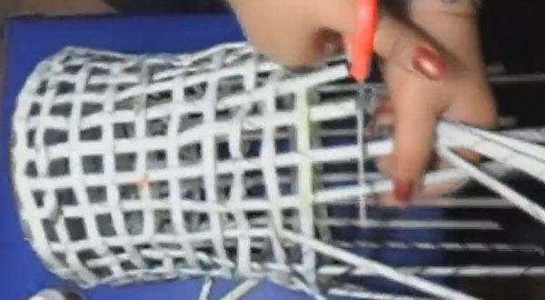 cesta reciclada papel periodico 10