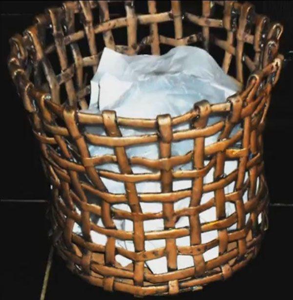 cesta reciclada papel periodico 12