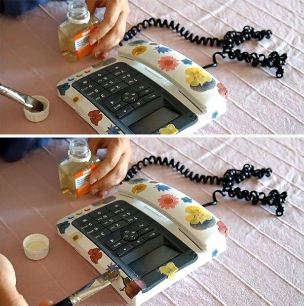 customizar telefono con tecnica del decoupage 4