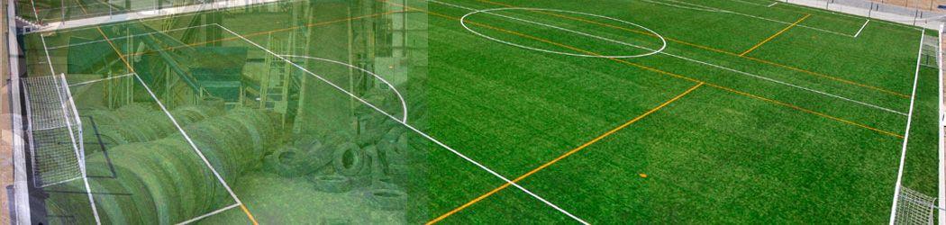 campos de futbol reciclando neumaticos