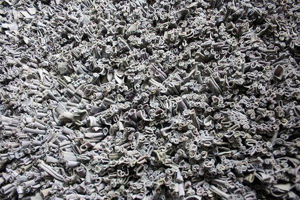 alfombra reciclando camisetas