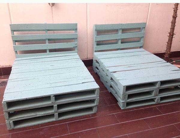 Ideas creativas para reciclar palets de madera bricoblog for Muebles hinchables