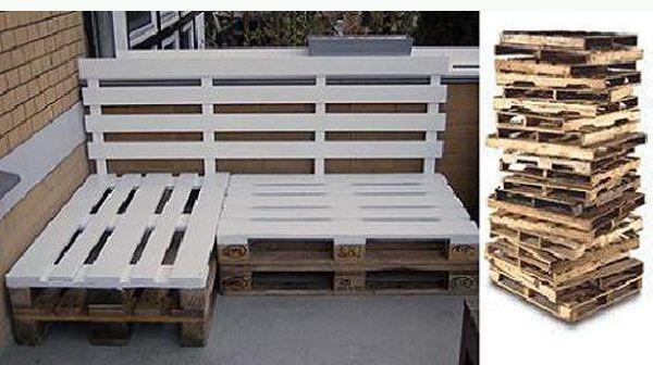 Ideas creativas para reciclar palets de madera bricoblog - Ideas para reciclar unos palets ...