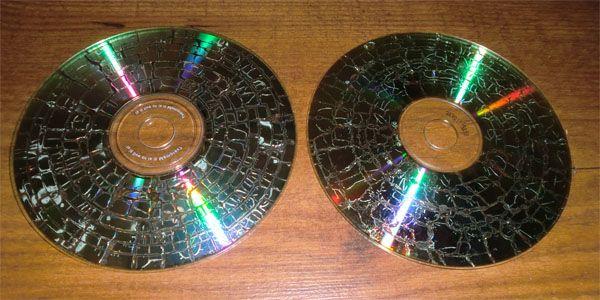 tecnica craquelado cds y dvds 2
