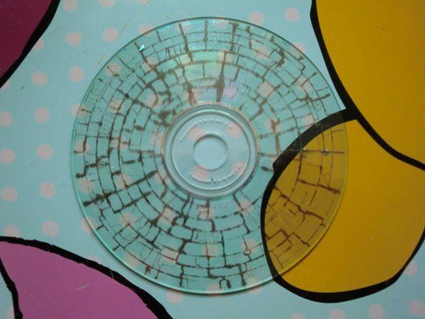 tecnica craquelado cds y dvds 9