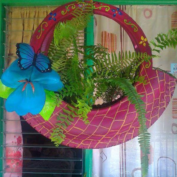 Arte creativo con neum ticos de deshecho bricoblog for Decoracion de jardin con llantas