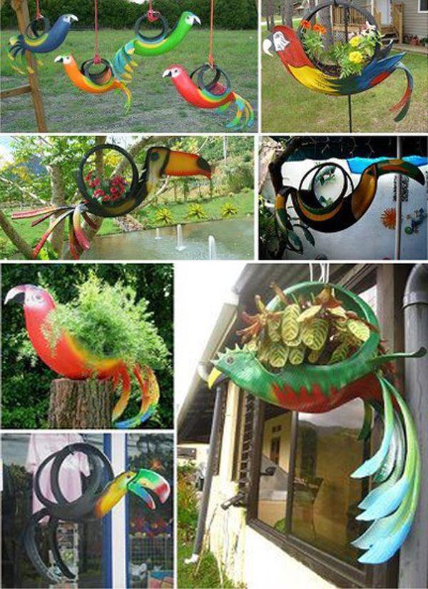 Arte creativo con neum ticos de deshecho bricoblog for Reciclado de sillones
