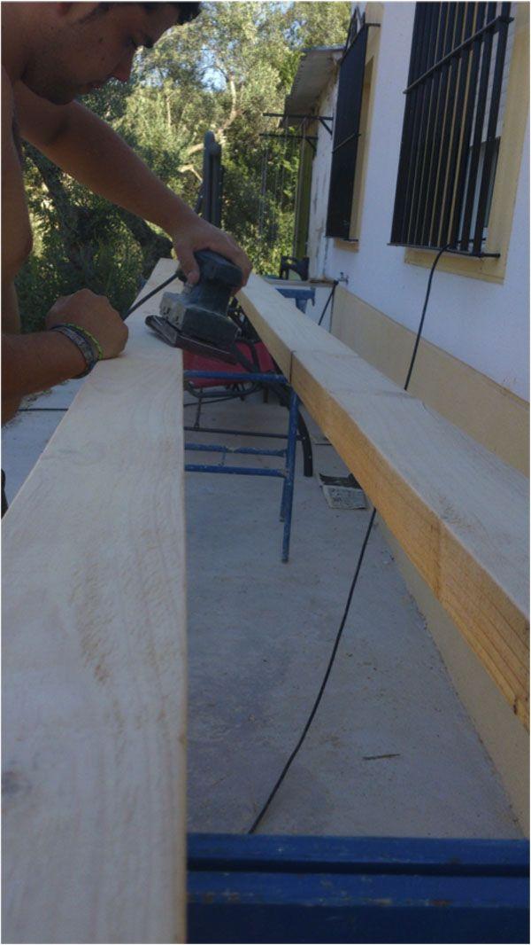C mo hacer una p rgola de madera por muy poco dinero - Construir una pergola ...