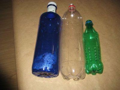 hacer flores con botellas de plastico