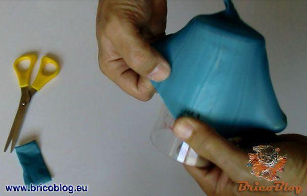 jarrones reciclados con globos