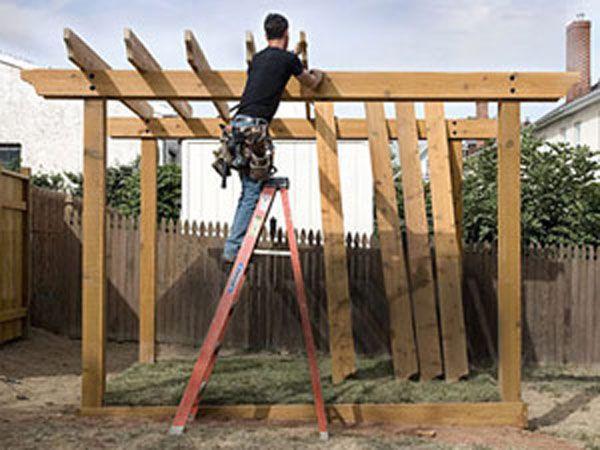 Construcci n de una p rgola de madera paso a paso for Plans de pergola