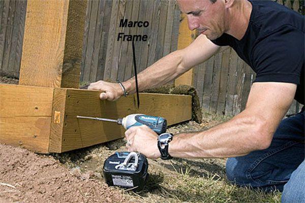 Construcción de una pérgola de madera - construcción perímetro