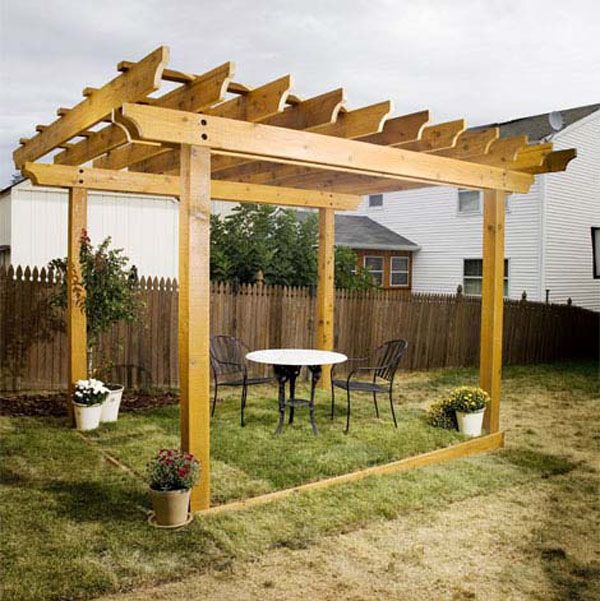 Construcci n de una p rgola de madera paso a paso - Como fabricar una pergola ...