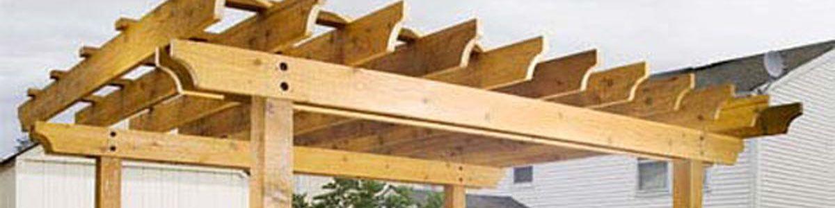 Como hacer una pergola best inclinacin de techo with como - Como construir una pergola de madera ...