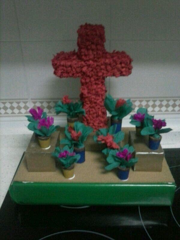 manualidades diy cruz de mayo