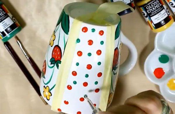 decorar con pintura la porcelana