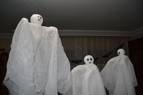 Fantasmas voladores decocacion infantil Halloween