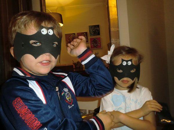 Manualidades infantiles para Halloween careta