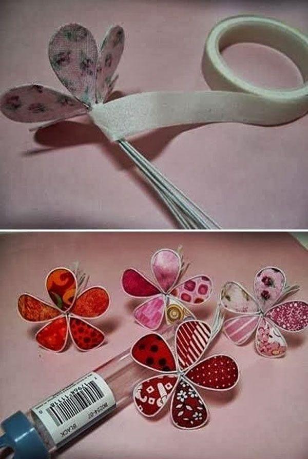 manualidades con tela  flores con alambre y tejido
