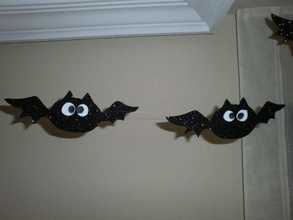 manualidades infantiles Halloween murcielagos