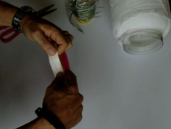 manualidades infantiles halloween lampara decorativa momia