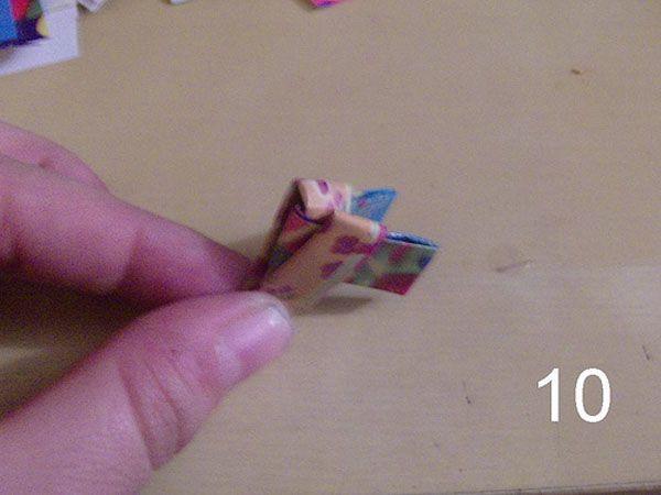 tecnica del papel trenzado reciclando papel de caramelos