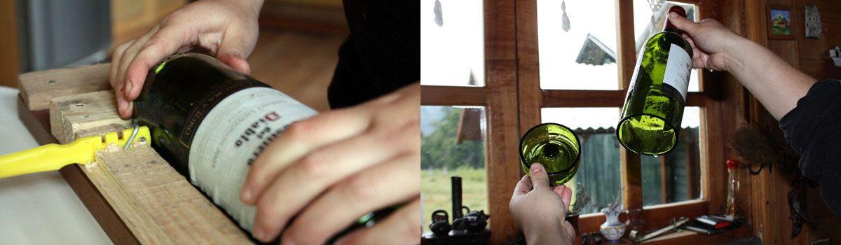 Cómo cortar botellas de vidrio