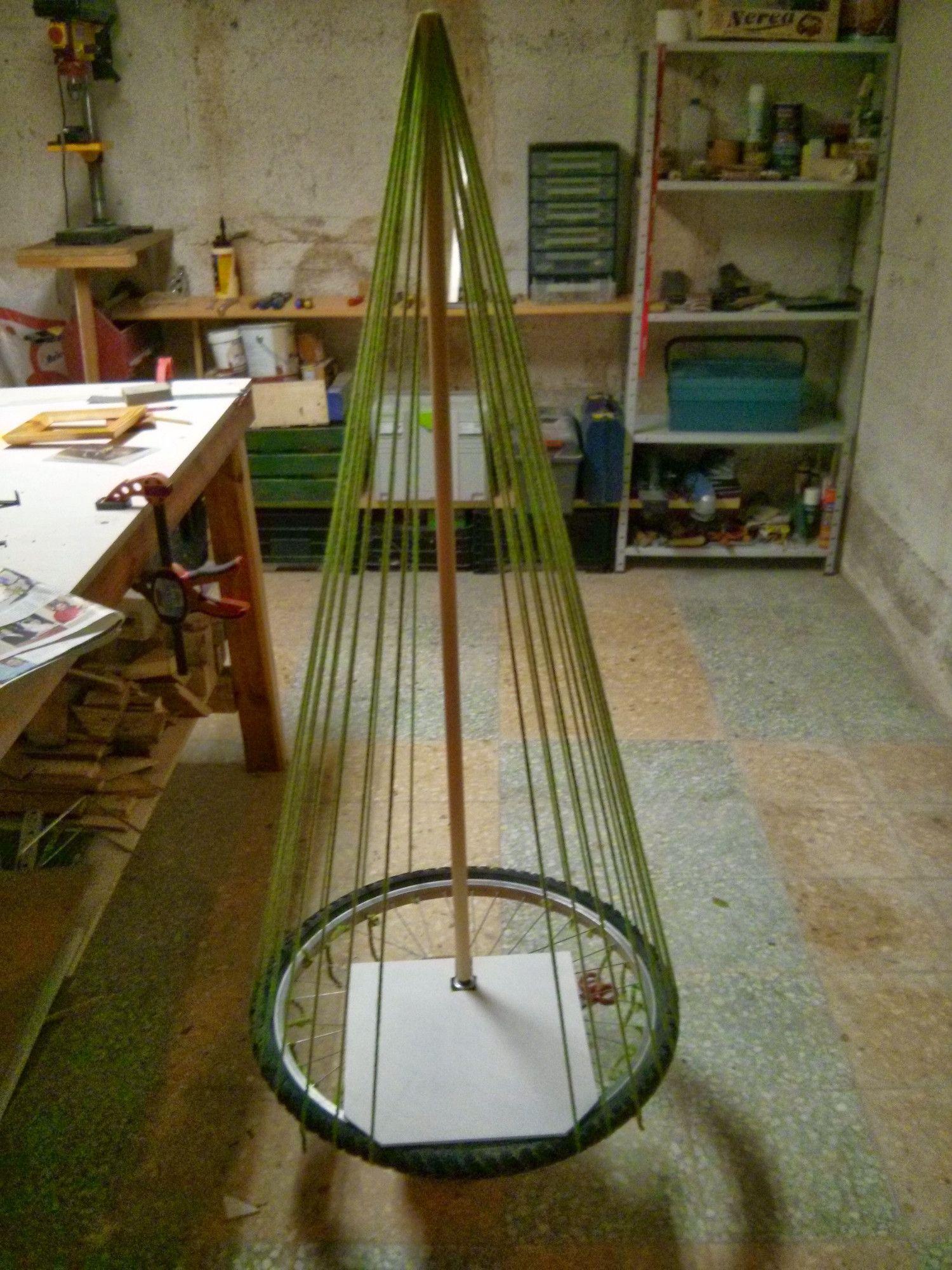 Portal de bel n dentro de un arbol de navidad - Hacer arbol de navidad original ...