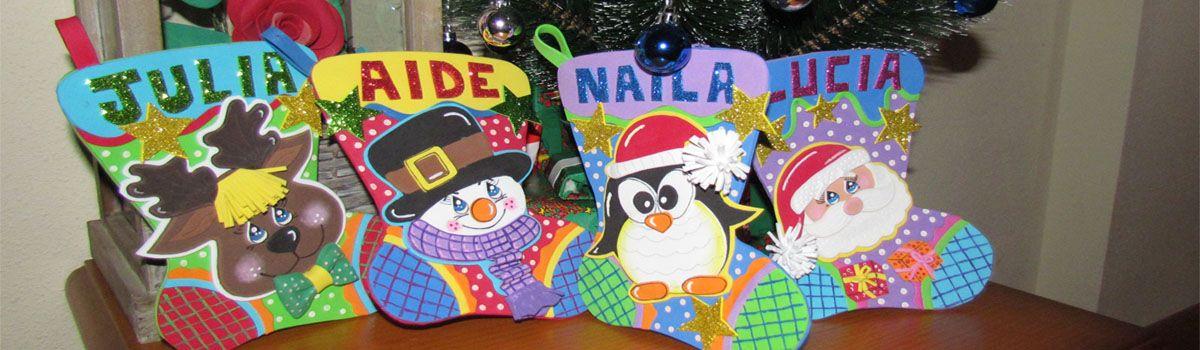 Calcetines navideños Goma Eva