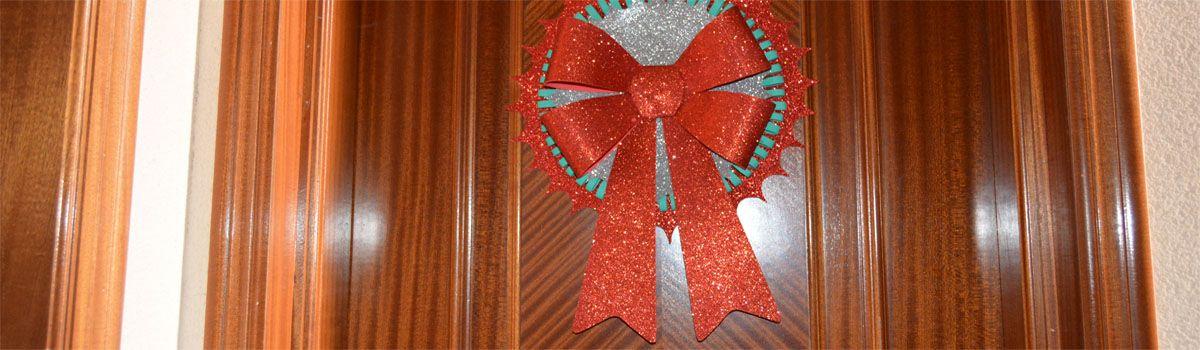 guirnalda de navidad con goma eva