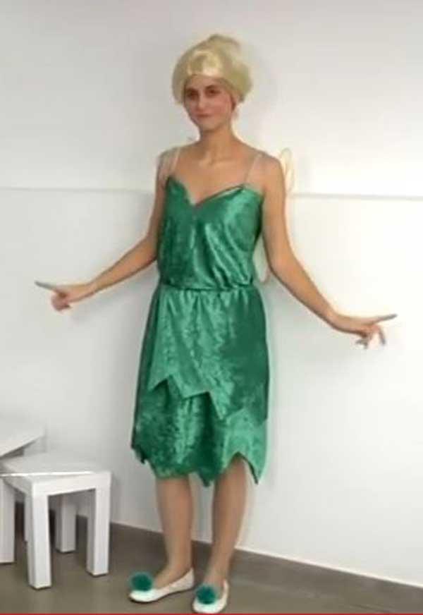 como hacer disfraz del hada campanilla para carnaval