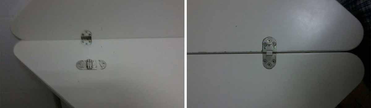 Cómo reparar una bisagra de pala redonda