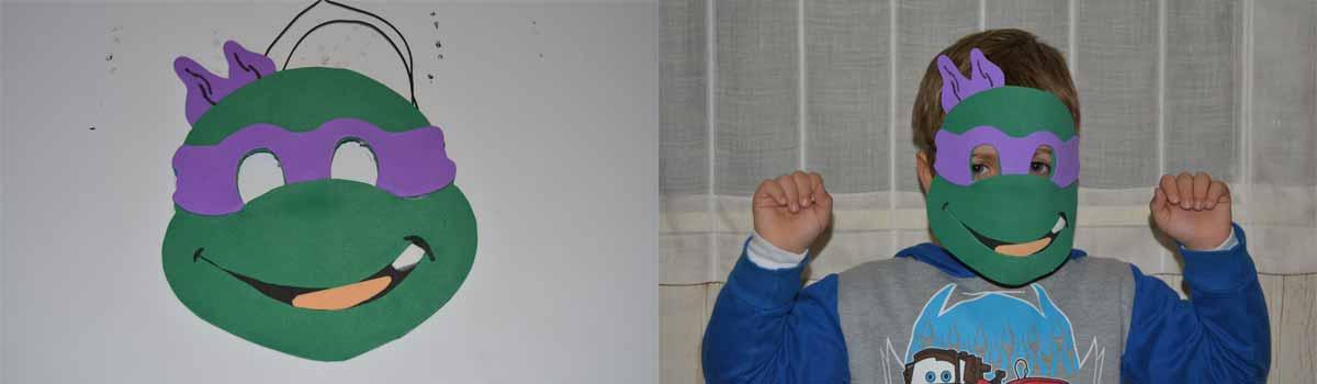 Mascara de carnaval tortuga ninja Donatello
