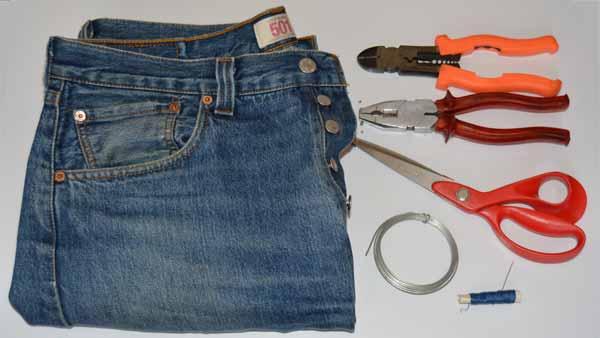 Hacer pulsera reciclando un pantalon vaquero viejo