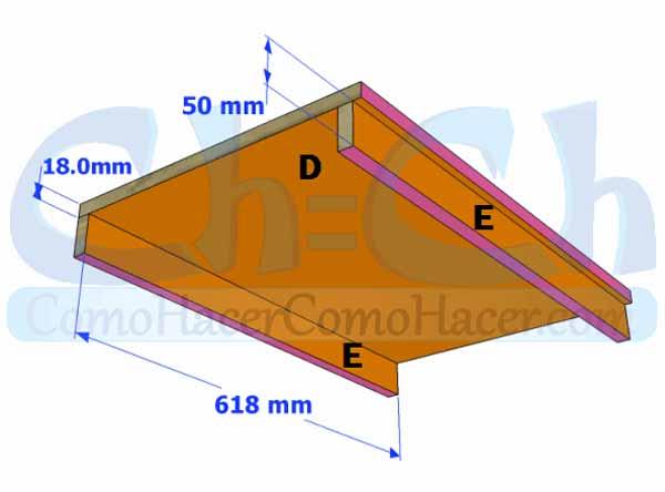 Planificación para la construcción de una estantería