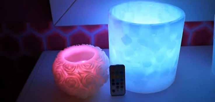 fanales decorativos de cera con iluminacion led