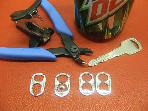 herramientas y materiales para hacer bolsos con chapas