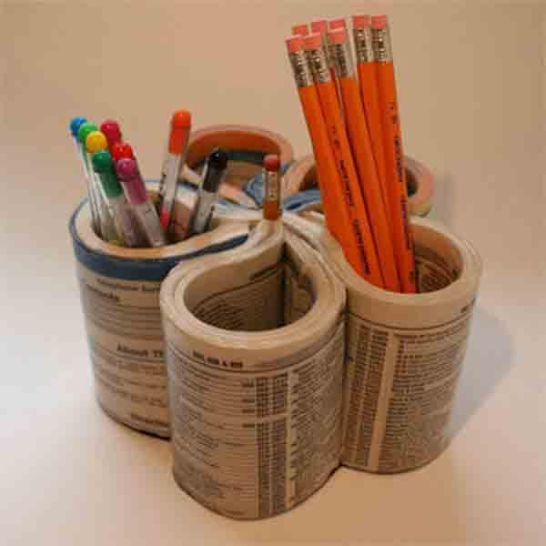 manualidades creativas reciclando papel 31