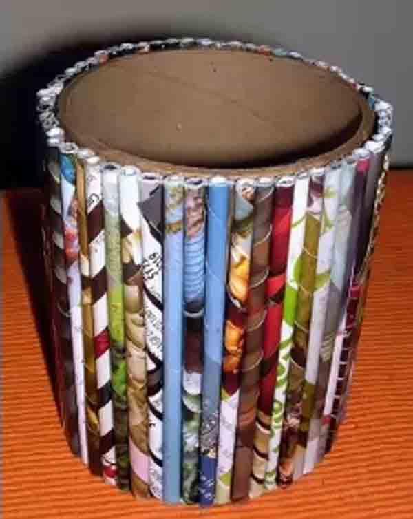 manualidades creativas reciclando papel 32