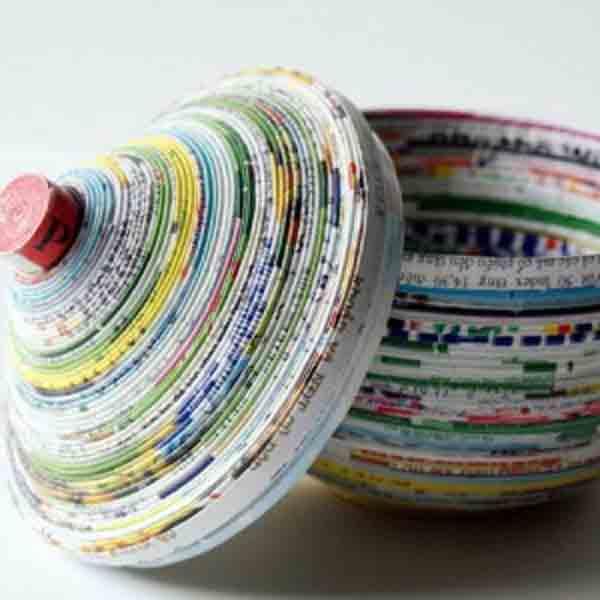 manualidades creativas reciclando papel 34