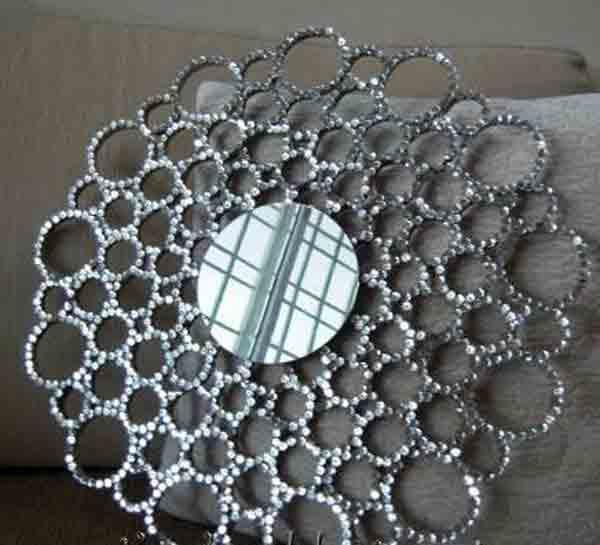 1000 manualidades reciclando papel bricoblog for Manualidades para decorar espejos