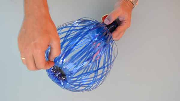 Moldeado botella plastico con forma de globo
