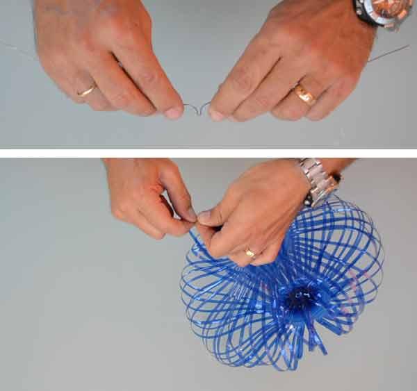Anclaje del tensor para dar forma de globo a la tulipa