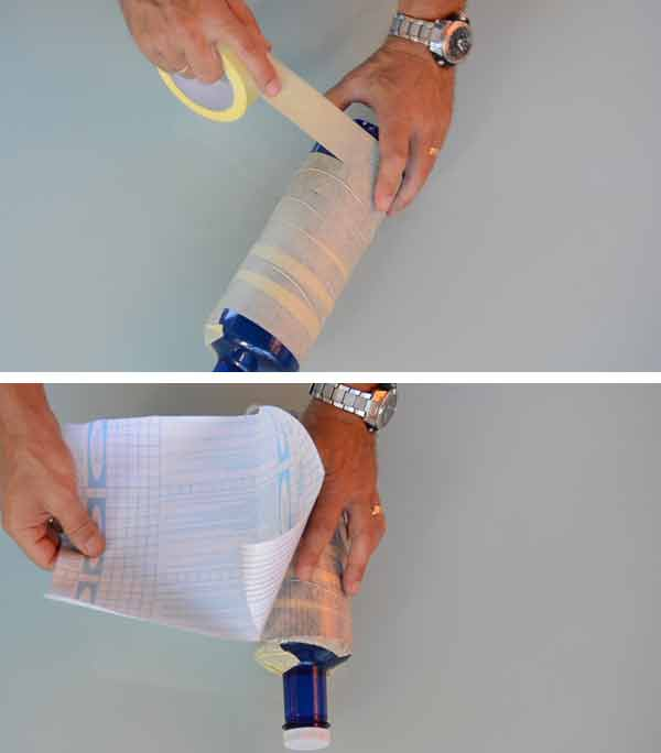 Preparacion para el corte tulipa plastico